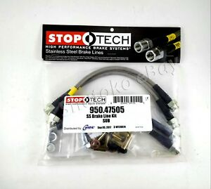 Stoptech Ss Stainless Steel Rear Brake Lines For 00 04 Subaru Outback