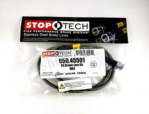 Stoptech Ss Stainless Steel Rear Brake Lines For 01 03 Mazda Protege Protege5