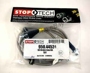 Stoptech Ss Stainless Steel Rear Brake Lines For 08 13 Toyota Sequoia