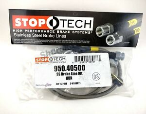 Stoptech Stainless Steel Ss Rear Brake Lines For 93 97 Honda Civic Del Sol