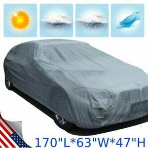 New Universal Full Auto Car Cover Heat Sun Uv Dust Protection Medium Up To 170
