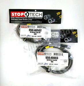 Stoptech Ss Stainless Steel Front Rear Brake Line Kit For 02 06 Acura Rsx
