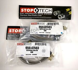 Stoptech Ss Stainless Steel Front Rear Brake Lines For 93 01 Subaru Impreza