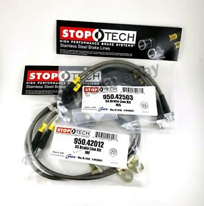 Stoptech Stainless Steel Front Rear Brake Lines For 09 up Nissan 350z 370z