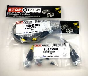 Stoptech Stainless Steel Front Rear Brake Lines For 89 98 Nissan 240sx S13 S14