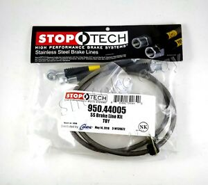 Stoptech Stainless Steel Front Brake Lines For 00 05 Toyota Celica
