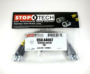 Stoptech Stainless Steel Front Brake Lines For 00 06 Toyota Tundra