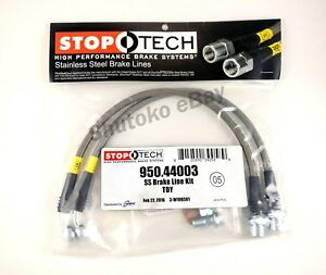 Stoptech Stainless Steel Front Brake Lines For 06 16 Lexus Is250 Is350 Is F