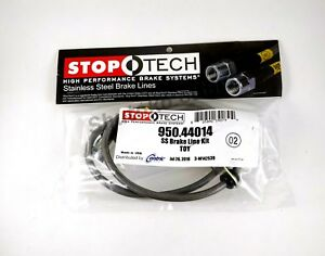 Stoptech Stainless Steel Front Brake Lines For 95 04 Toyota Tacoma 6 Lug