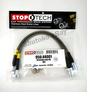 Stoptech Stainless Steel Front Brake Lines For 98 05 Lexus Gs300 Gs400 Gs430