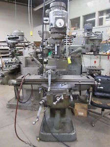 Bridgeport 42 x 9 table 5 quill 1 5hp 230 460v Mill W vice Travadial Indicator