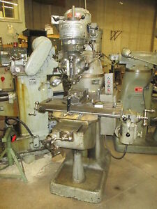 Bridgeport 32 x 9 table 1hp 220v 3ph Mill W tablefeed vise Drill tapping Head