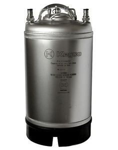 New Kegco Home Brew Ball Lock Pepsi Cornelius Beer Keg W Strap Handle