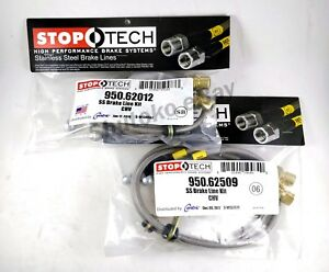 Stoptech Stainless Steel Front Rear Brake Lines For 10 15 Chevrolet Camaro Ss