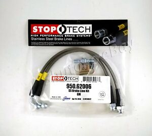 Stoptech Stainless Steel Braided Front Brake Lines For 06 09 Pontiac Solstice