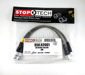 Stoptech Stainless Steel Braided Front Brake Lines For 93 02 Chevrolet Camaro