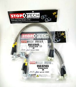 Stoptech Stainless Steel Front Rear Brake Lines For 05 11 Chevrolet Corvette