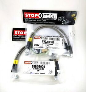 Stoptech Stainless Steel Front Rear Brake Lines For 06 10 Jeep Grand Cherokee