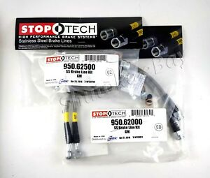 Stoptech Stainless Steel Front Rear Brake Lines For 97 04 Chevrolet Corvette