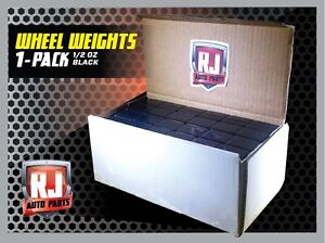 One 9 Lb Box Black Wheel Weights 1 2 Oz Stick On Adhesive Tape 288 Pieces