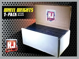 One 9 LB Box Black Wheel Weights 1 2 Oz Stick On Adhesive Tape 288 Pieces $26.95