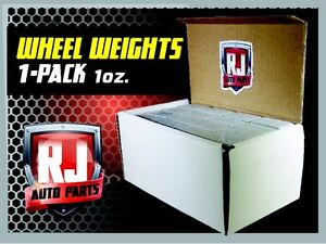 1 9 LB BOX WHEEL WEIGHTS 1 OZ. STICK ON ADHESIVE TAPE 144 PIECES $26.95