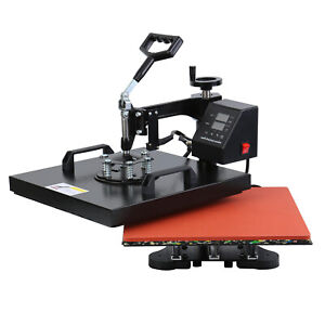 Digital Lcd 12 x15 Swing away T shirt Heat Press Transfer Machine Diy Tool