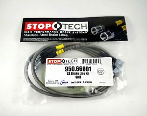 Stoptech Stainless Steel Braided Front Brake Lines For 99 05 Gmc Sierra 1500