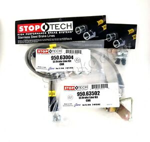 Stoptech Stainless Steel Front Rear Brake Lines For 06 08 Dodge Magnum Srt8