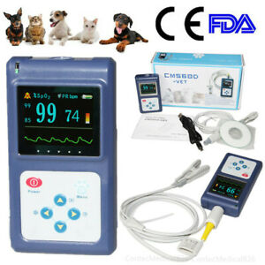 Cms60d Veterinary Pulse Oximeter Handheld Spo2 Pr Monitor Vet Tongue Probe pc Sw