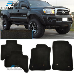For 05 10 Toyota Tacoma Black Nylon Floor Mats Carpets 4pc