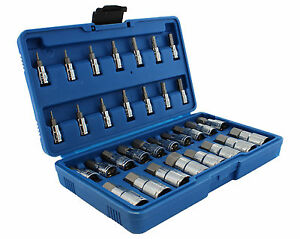 Master Hex Bit Set 32pc Sae Metric Socket Set Standard Allen 1 4 3 8 1 2