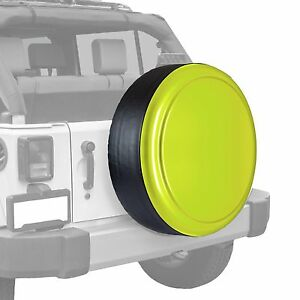 Boomerang Painted Rigid Tire Cover Fits Jeep Wrangler Hyper Green