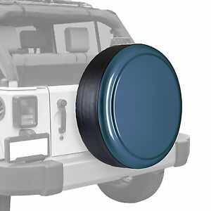 Boomerang painted Rigid Tire Cover Fits Jeep Wrangler Steel Blue
