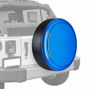 Boomerang Painted Rigid Tire Cover Fits Jeep Wrangler Hydro Blue