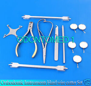 Orthodontic Instruments Hard Wire Cutter bracket Placing mathieu guages mirrors