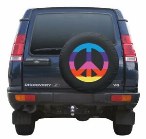 30 Peace Sign Tire Cover Rainbow Land Rover Discovery