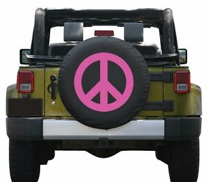 32 Peace Sign Tire Cover Pink Fits Jeep Wrangler Jk Usa