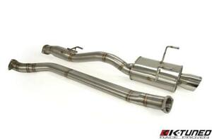K tuned 3 Oval Tube Cat back Exhaust System 02 06 Acura Rsx Type s Dc5 K20a2