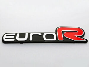 For Honda Euro R Emblem Badge Sticker Logo Decal Accord Civic Acura Rsx Jdm 3d