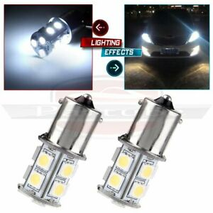2x 6000k White Car Rv 1156 Ba15s 13 Smd 5050 Led Backup Reverse Light B