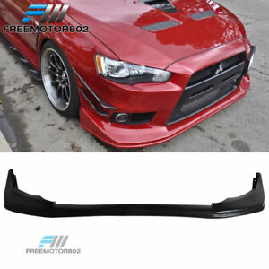 Fits 08 15 Mitsubishi Lancer Evo 10 X Evolution Pu Front Bumper Lip