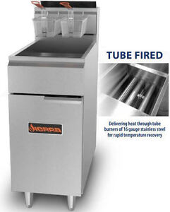 Sierra Srf40 50 114 000btu Commercial 50lb Tube fired Gas Deep Fryer Brand New