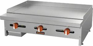 Sierra Srmg 36 36 Stainless Steel 3 burner Commercial Gas Griddle Brand New