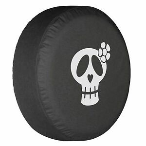 27 Girly Skull Tire Cover White Print Honda Crv
