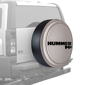 33 Hummer H3 Logo Rigid Tire Cover Painted Boulder Gray