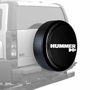 33 Hummer H3 Logo Rigid Tire Cover Painted Black