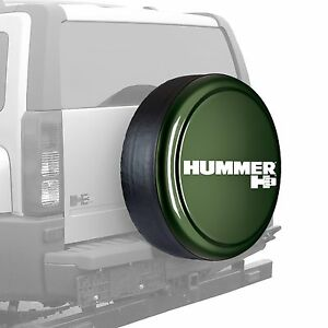 33 Hummer H3 Logo Rigid Tire Cover Painted Shadow Green