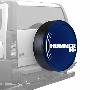 32 Hummer H3 Logo Rigid Tire Cover Painted Midnight Blue