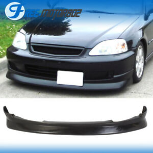 Cs Style Front Bumper Lip Spoiler Wing Pu Fit Honda Civic Ek 2 3 4 Dr 99 00